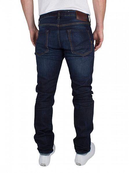 Scotch & Soda Dark Denim Ralston Beaten Track Regular Slim Fit Jeans