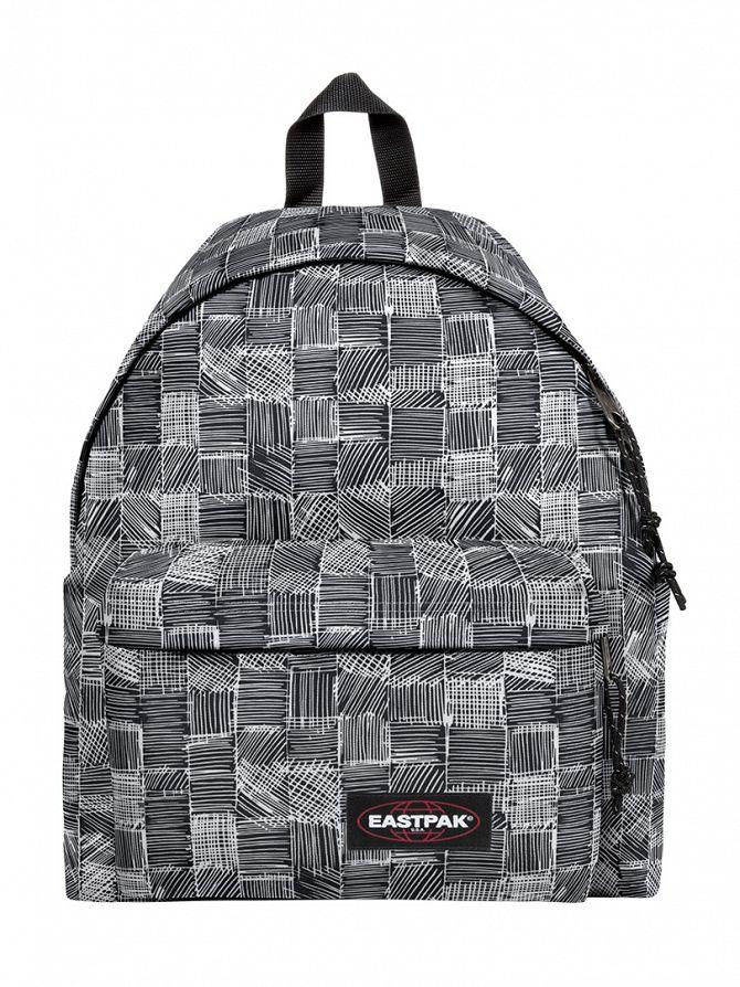 Eastpak Black/White Padded Pak R Doodle Check Logo Backpack