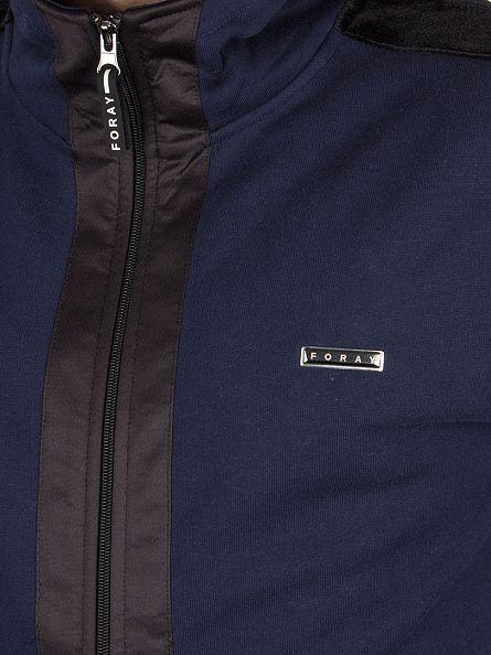 Foray Navy/Ant Uranium Velor Trim Logo Hoodie