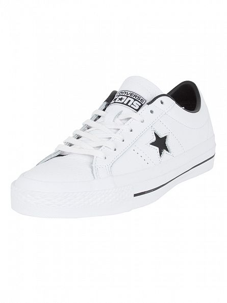 Converse White/Black One Star Leather OX Trainers