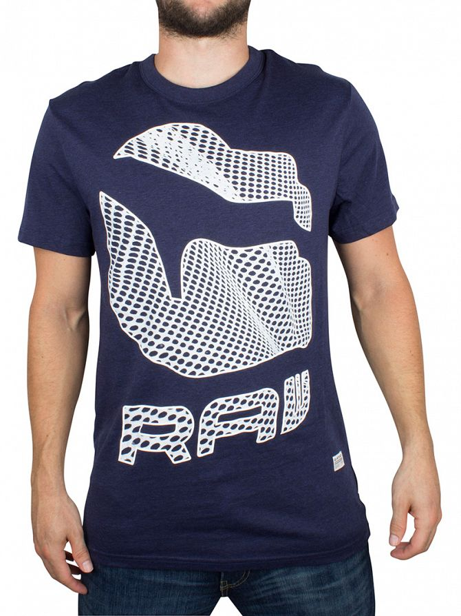 G-Star Tench Blue Heather Lethi Graphic T-Shirt