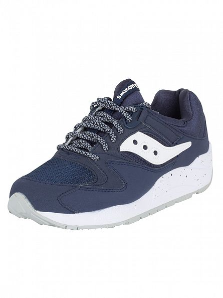 Saucony Navy/White Grid 9000 Trainers