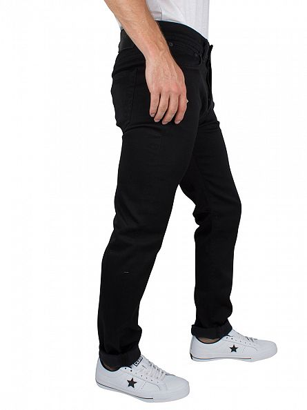 Edwin Ink Black Denim ED-80 Slim Tapered Jeans