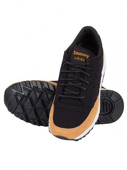 Saucony Black/Yellow Jazz 91 Trainers