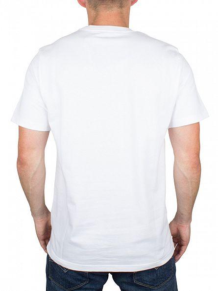 Carhartt WIP White/Navy College Logo T-Shirt
