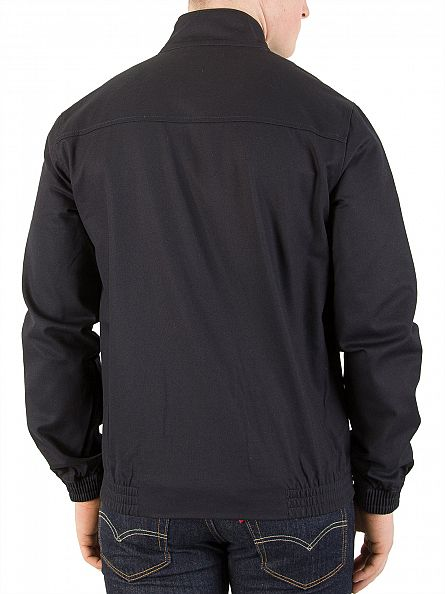 Lyle & Scott Navy Harrington Logo Zip Jacket