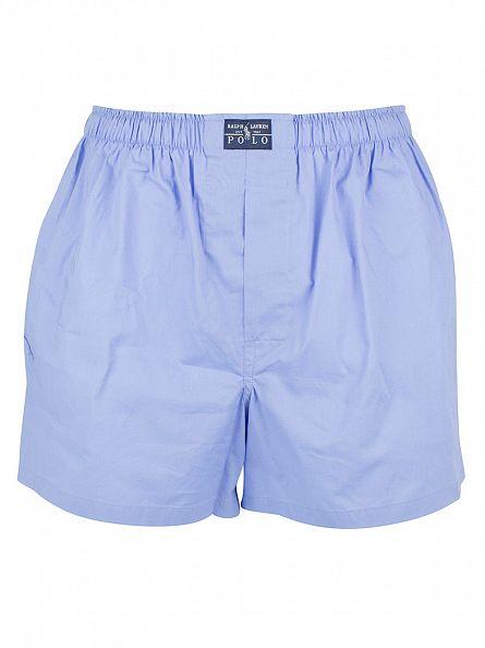 Polo Ralph Lauren White/Blue/Navy 3 Pack Woven Logo Trunks