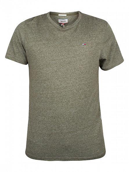 Hilfiger Denim Olive Night THDM Basic Marled Logo T-Shirt