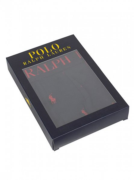 Polo Ralph Lauren Polo Black/Red Classic Pouch Stretch Cotton All Over Logo Trunks