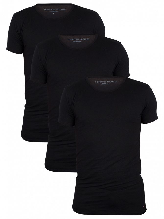 Tommy Hilfiger Black 3 Pack Premium Essentials T-Shirts
