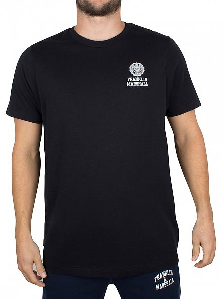 Franklin & Marshall Black Chest Logo T-Shirt