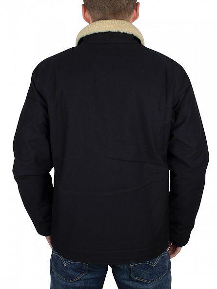 Carhartt WIP Black Sheffield Fur Trim Jacket