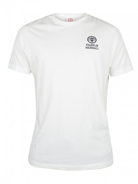 Franklin & Marshall Old White Chest Logo T-Shirt