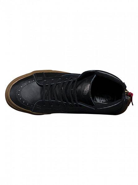 Vans Black/Gum Sk8-Hi Reissie Zip Hiking Trainers