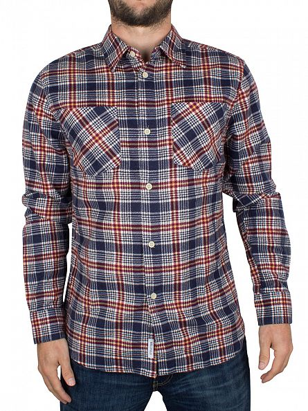 Bellfield Red Wisconsin Flannel Checked Shirt