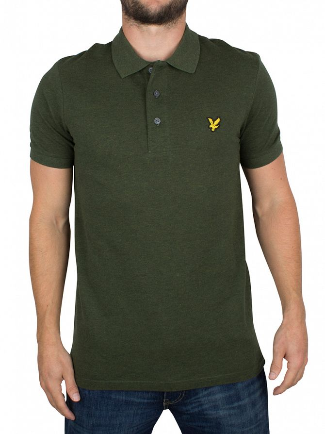 Lyle & Scott Dark Sage Marl Logo Polo Shirt