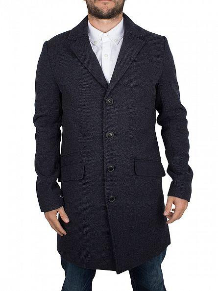 Only & Sons Dark Navy Otto Twill Coat