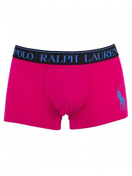 Polo Ralph Lauren Aruba Pink Classic Pouch Stretch Cotton Logo Trunks