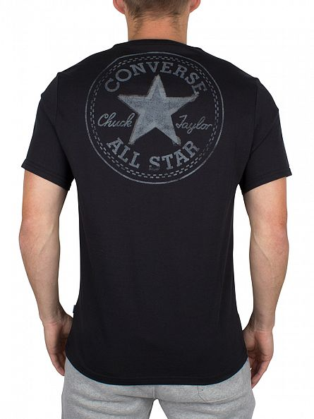 Converse Black Reflective Tape Star CP Logo T-Shirt