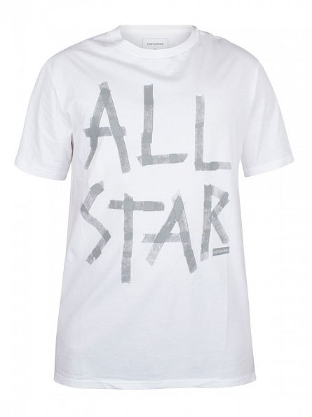 Converse White Reflective Tape All Star Graphic T-Shirt