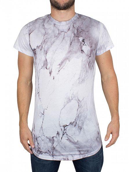 Religion White Marble Sublimation Logo T-Shirt