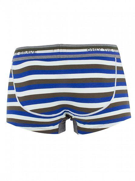 Diesel Blue UMBX Hero Fit Striped Trunks