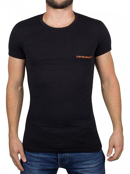 Emporio Armani Black 2 Pack Logo T-Shirts
