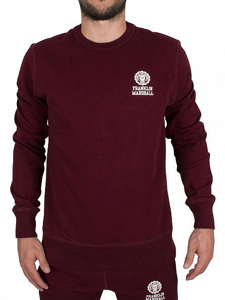 Franklin & Marshall Bordeaux  Left Chest Logo Sweatshirt Tracksuit