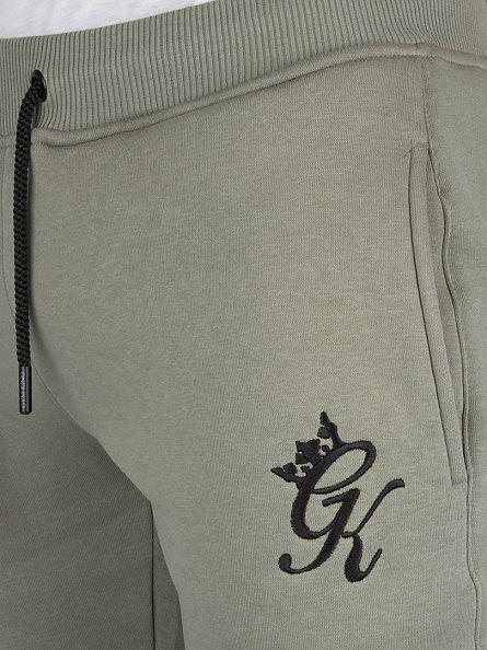 Gym King Vetiver Fleece Bottom Logo Joggers
