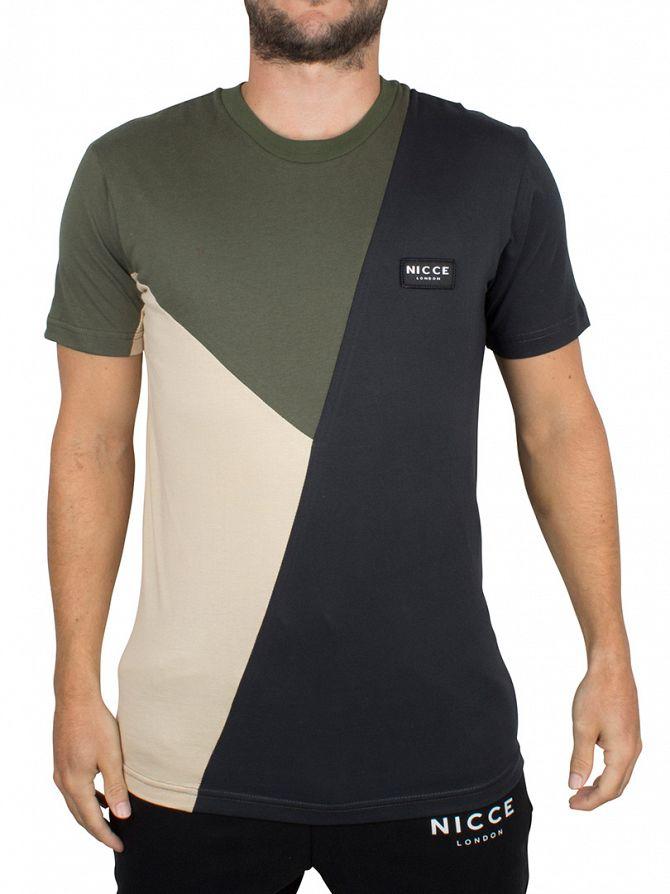 Nicce London Black/Grey/White Triple Panel T-Shirt