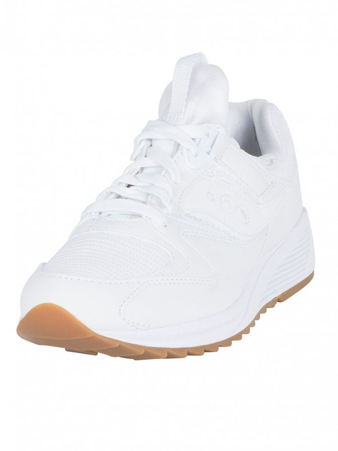 Saucony White Grid 8500 Trainers