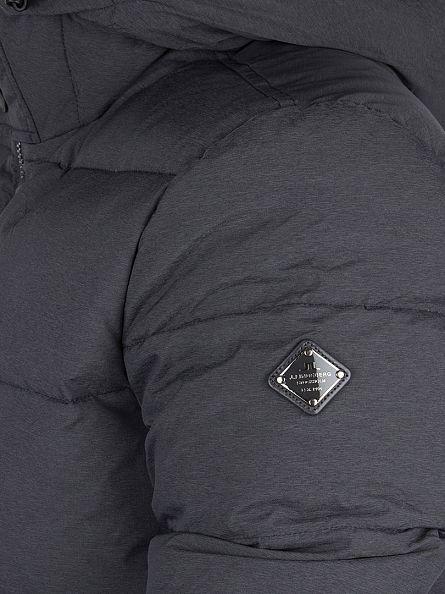 J Lindeberg Rhino Grey Melange Barry 67 Rich Nylon Jacket