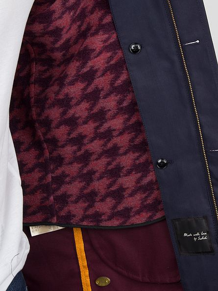 Scotch & Soda Bright Ink Fish Tail Trench Coat