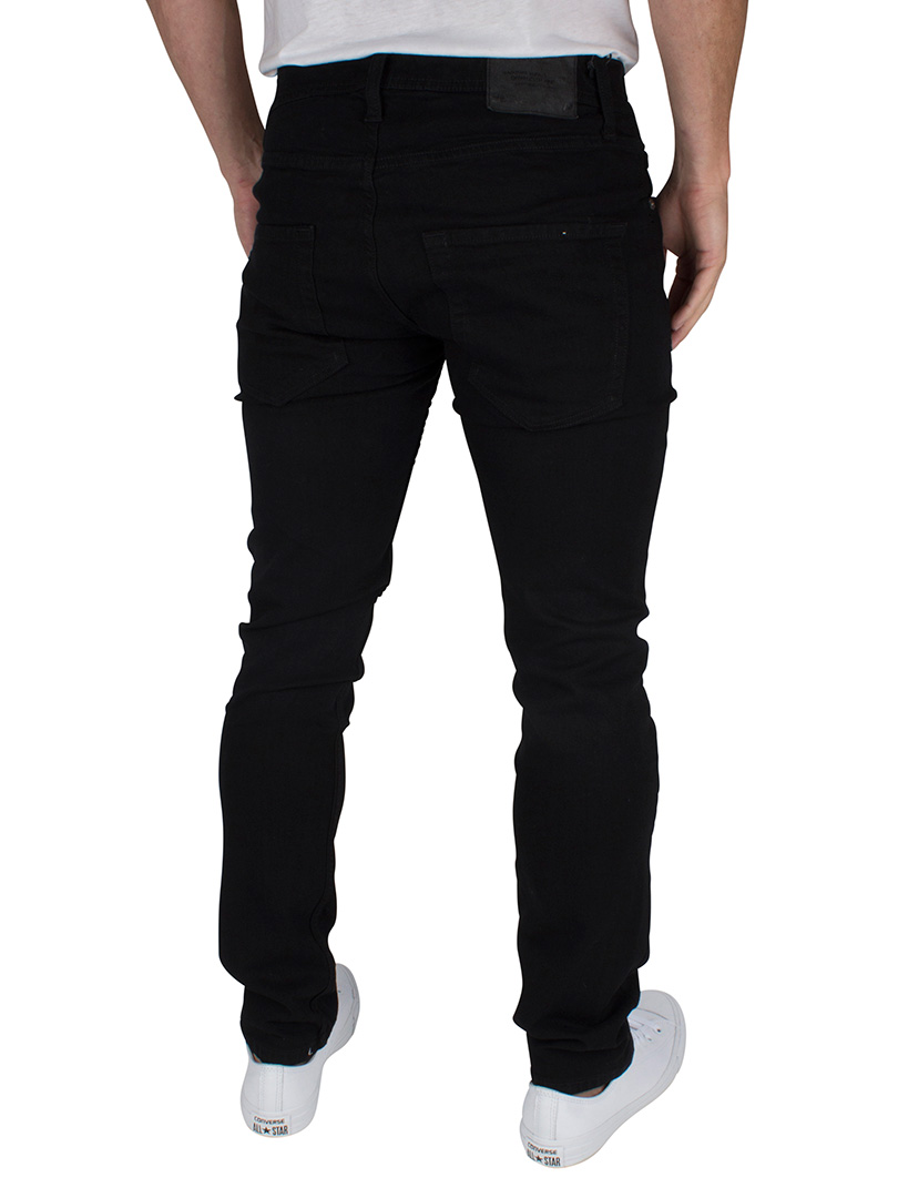 Jack amp Jones Mens Slim Fit Tim Original 298 Jeans Black