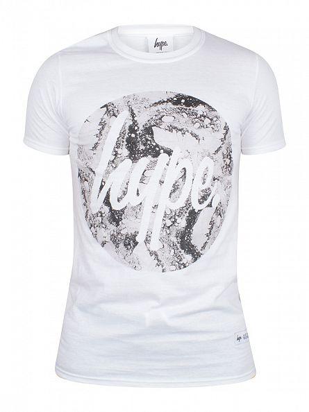 Hype White Mono Sands Circle Logo T-Shirt
