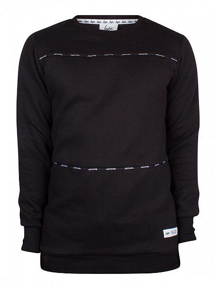 Hype Black Taping Panel Logo Sweatshirt