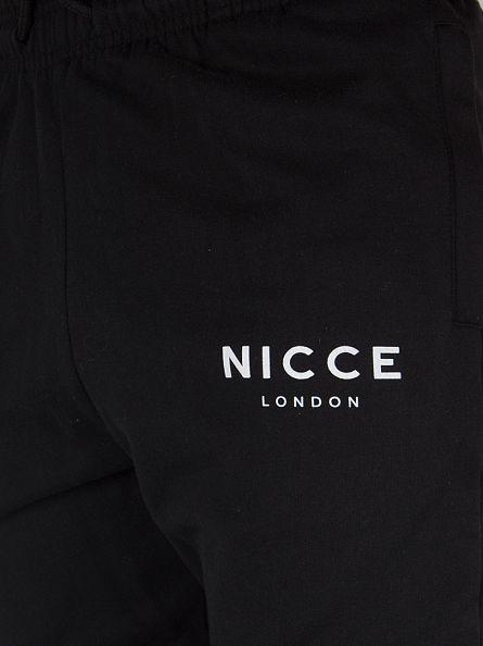 Nicce London Black Skinny Logo Joggers