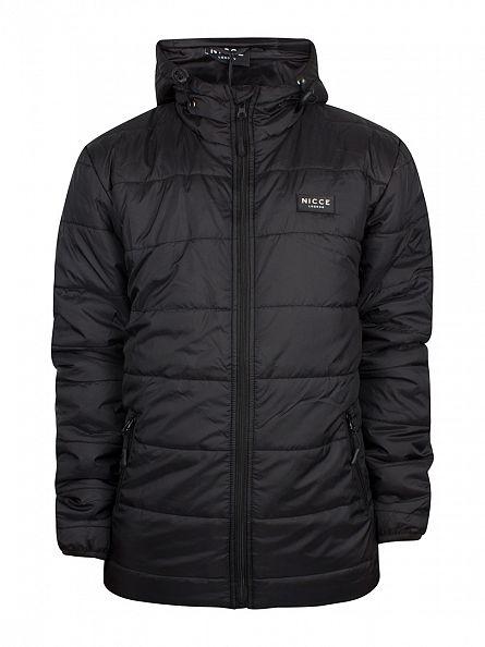 Nicce London Black Trail Logo Jacket