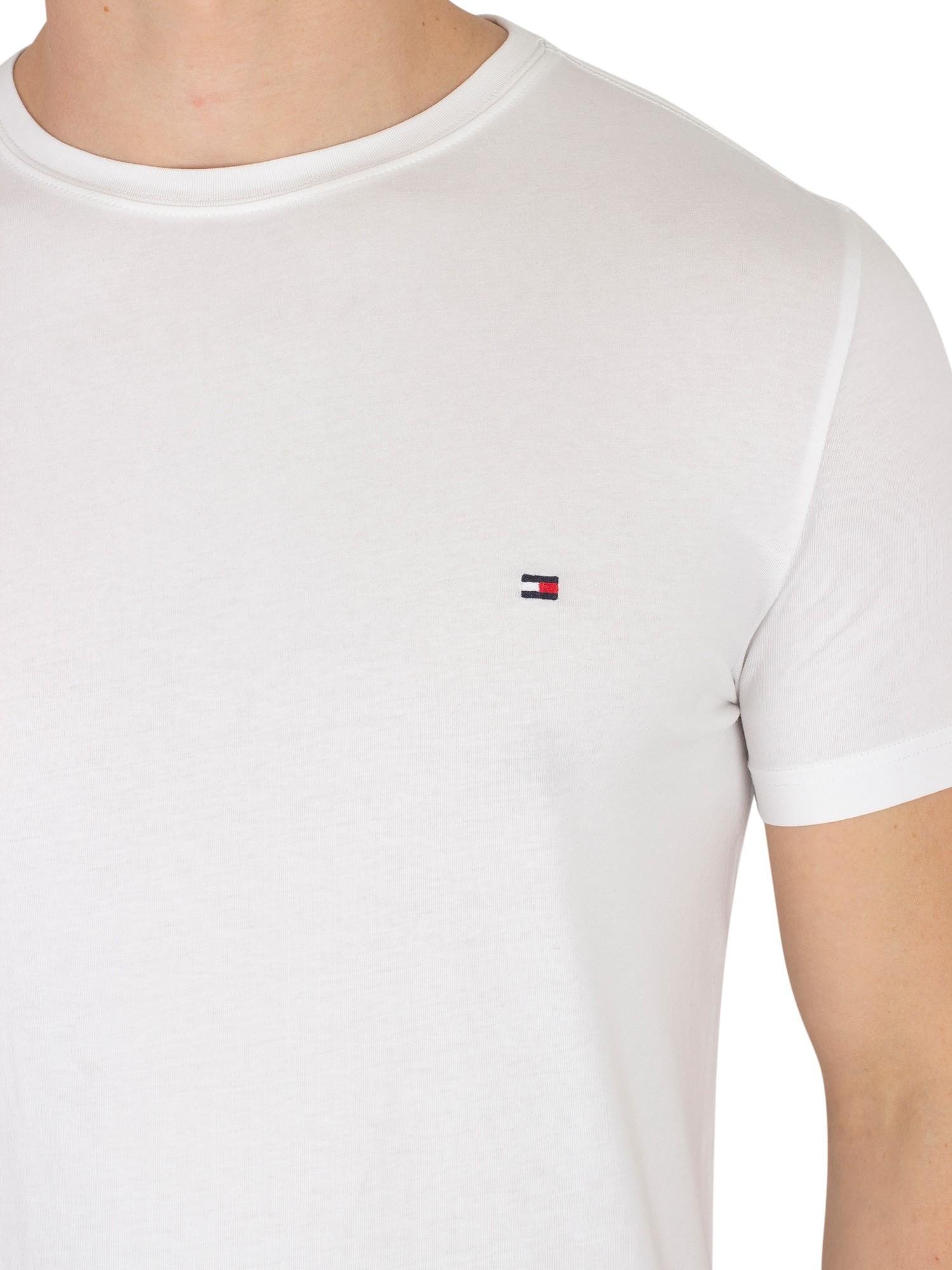 tommy hilfiger men 39 s slim fit stretch logo t shirt white. Black Bedroom Furniture Sets. Home Design Ideas