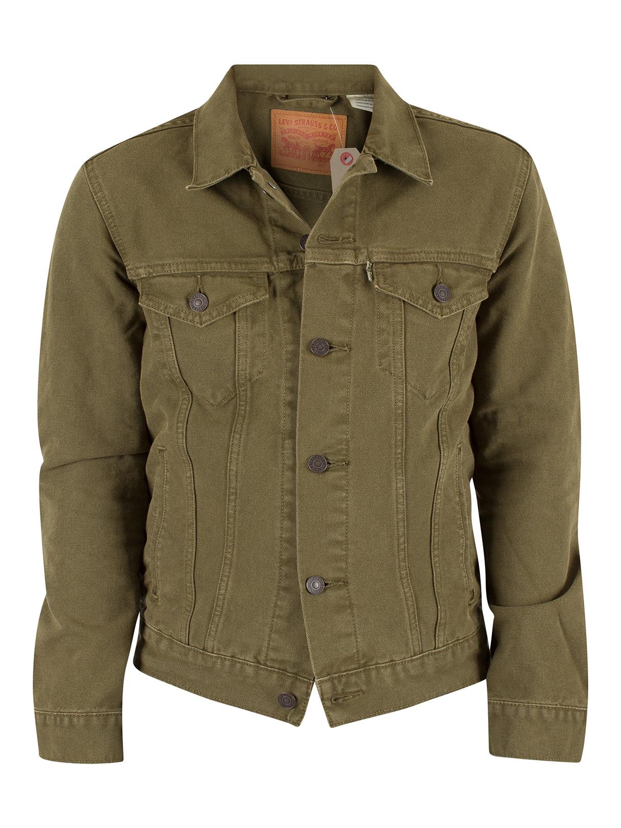 Leviu0026#39;s Menu0026#39;s Trucker Foxtrot Denim Jacket Green | eBay