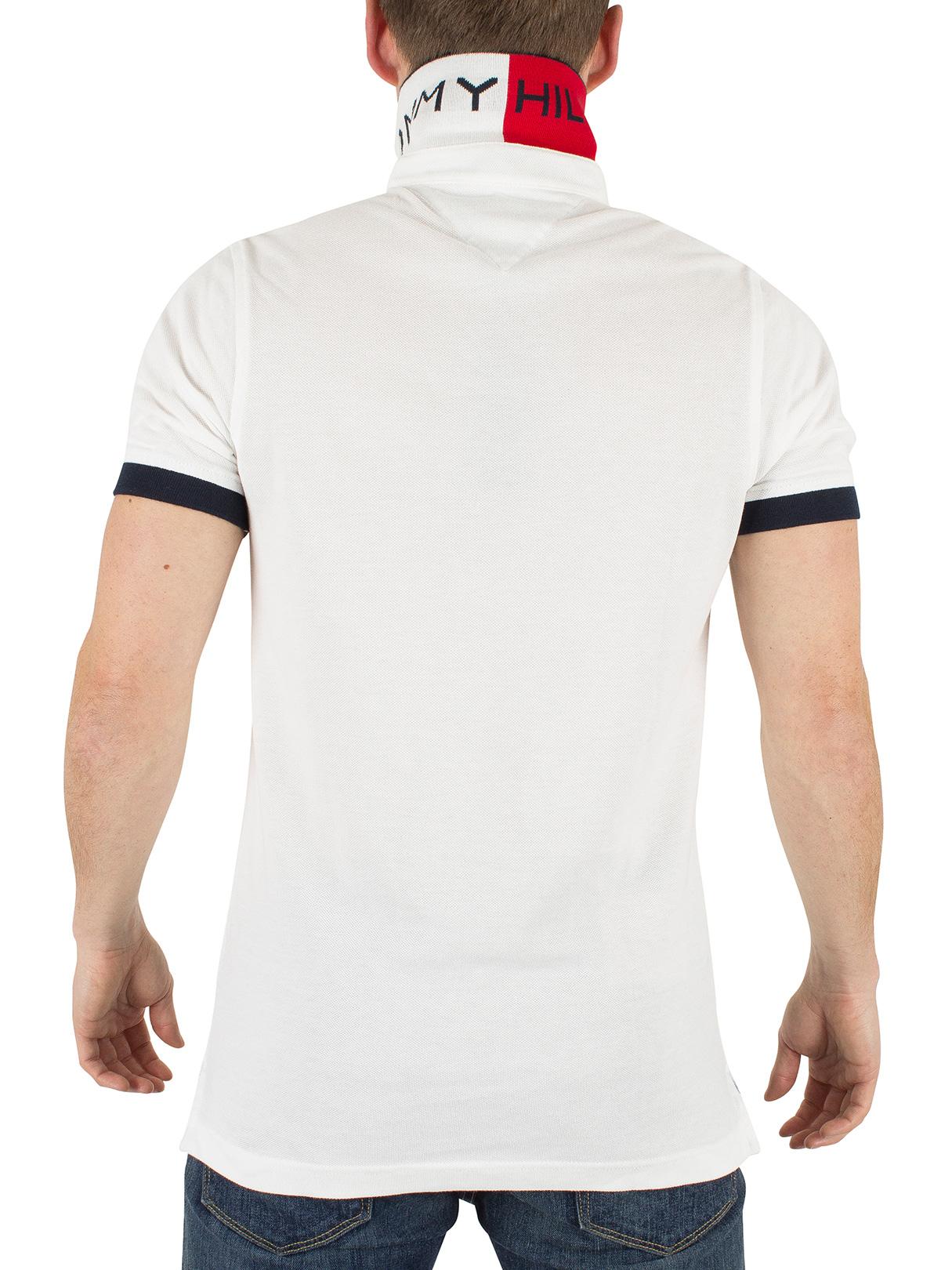 tommy hilfiger men 39 s jacquard slim fit logo polo shirt white. Black Bedroom Furniture Sets. Home Design Ideas