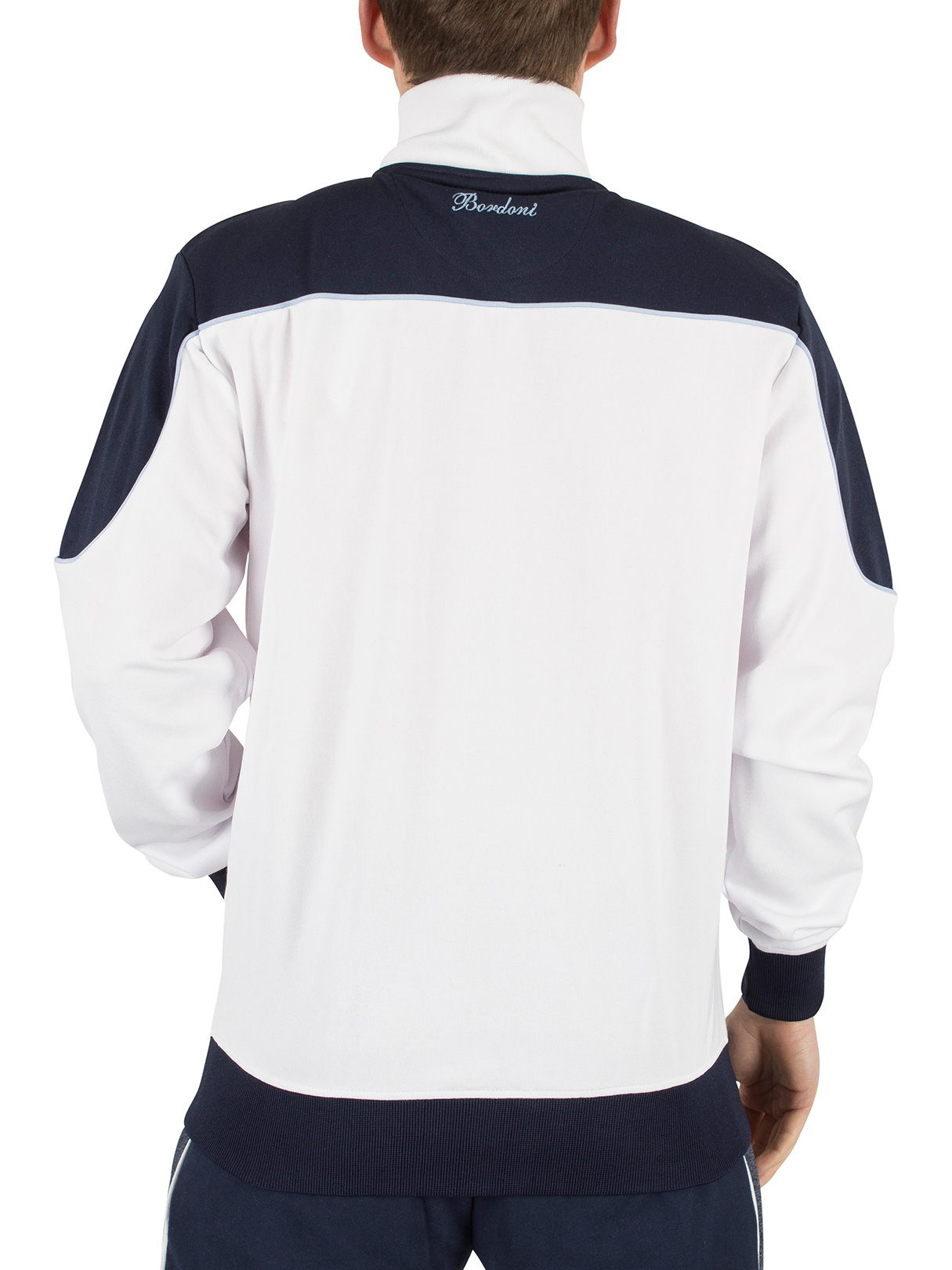 ellesse herren bordoni panelled logo tracktop jacke wei. Black Bedroom Furniture Sets. Home Design Ideas