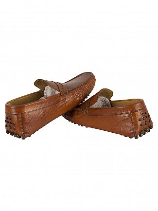 Base London Snake Tan Morgan Loafers