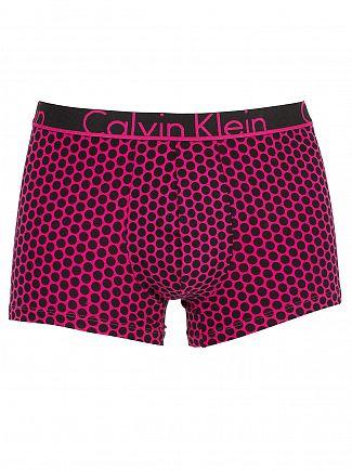 Calvin Klein Black/Pink ID Atom Print Amora Trunks