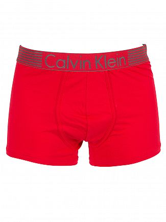 Calvin Klein Red Iron Strength Logo Trunks