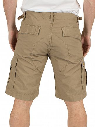 Carhartt WIP Leather Rinsed Aviation Sport Cargo Shorts
