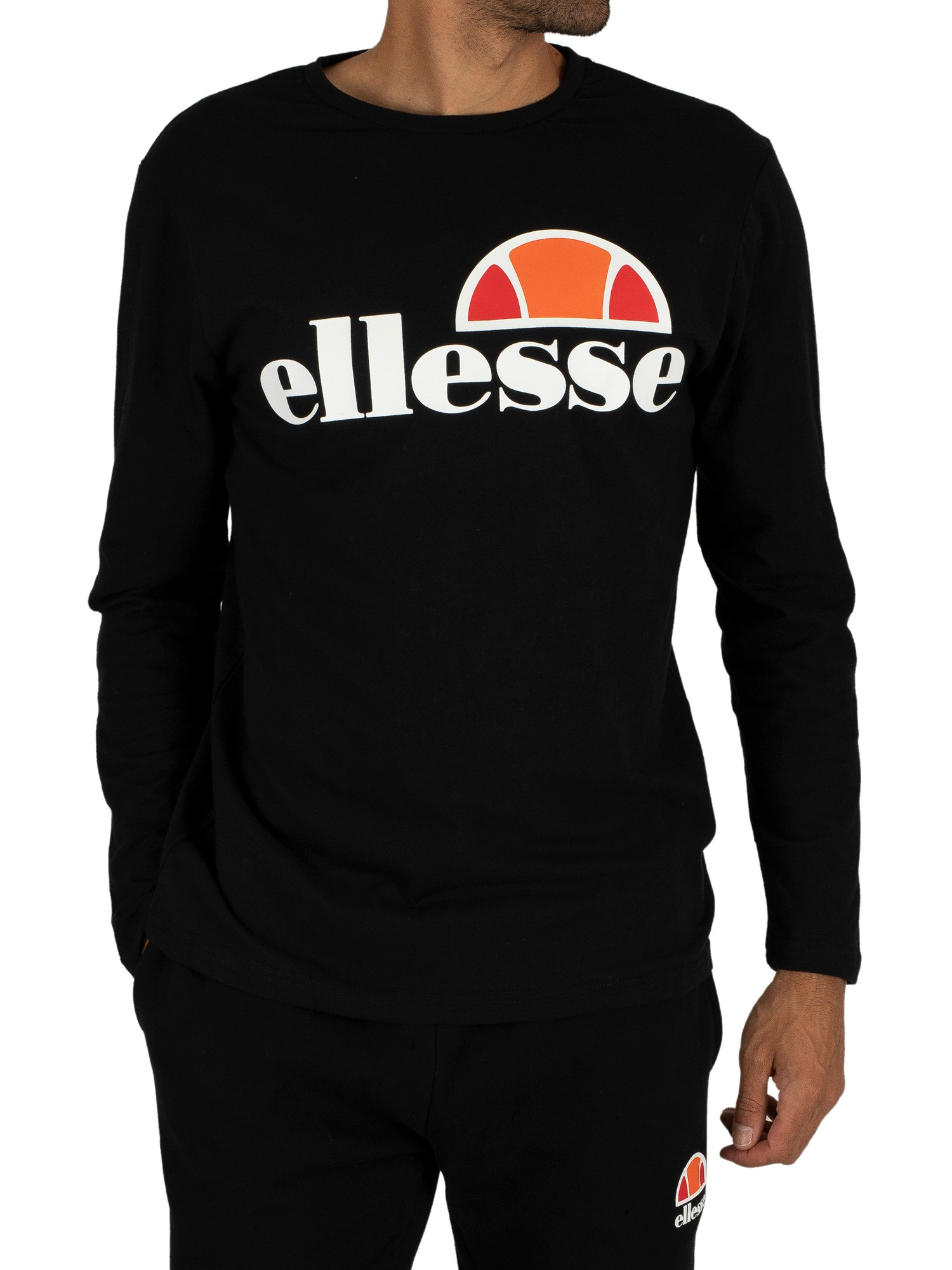 ellesse herren grazie longsleeved grafik t shirt schwarz. Black Bedroom Furniture Sets. Home Design Ideas