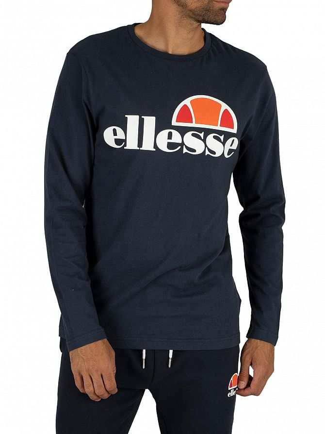 Ellesse Dress Blues Grazie Longsleeved Graphic T-Shirt