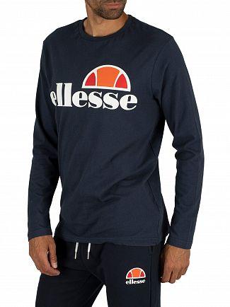 Ellesse Dress Blues Grazie Longsleeved Graphic T-Shirt