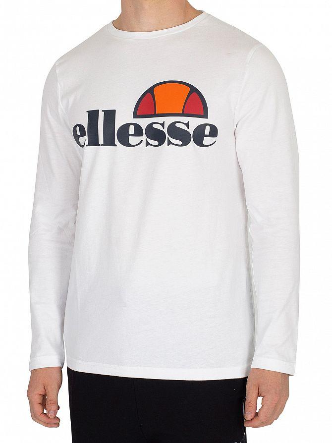 Ellesse Optic White Grazie Longsleeved Graphic T-Shirt